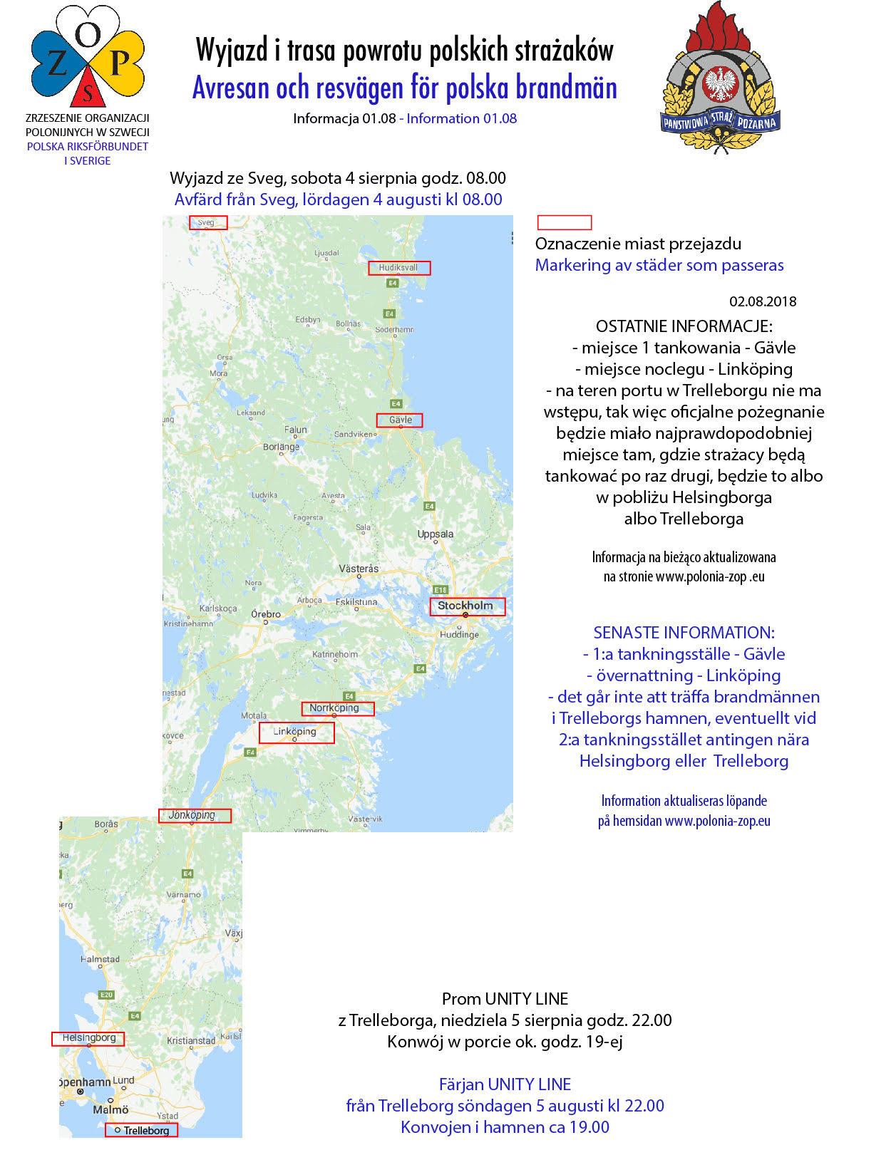 Karta avresan polska brandmän 2